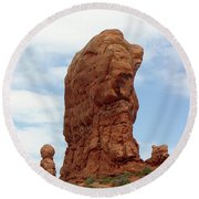 Arches Formation 27 Round Beach Towel