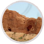Arches Formation 29 Round Beach Towel