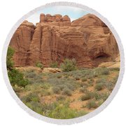 Arches Formation 31 Round Beach Towel