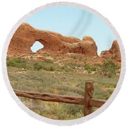 Arches Formation 35 Round Beach Towel