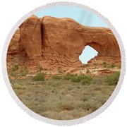 Arches Formation 37 Round Beach Towel