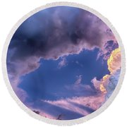 Arches In The Sky Round Beach Towel