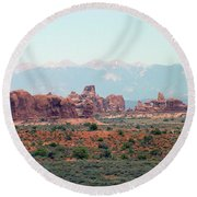 Arches National Park 19 Round Beach Towel