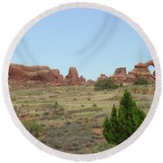 Arches National Park 21 Round Beach Towel