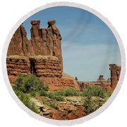 Arches National Park 3 Round Beach Towel