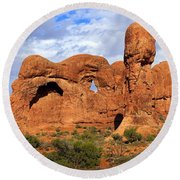 Arches National Park 8 Round Beach Towel