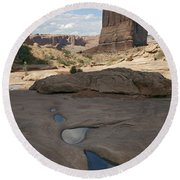 Arches National Park Park Avenue  Round Beach Towel