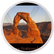 Arches National Park Poster Round Beach Towel