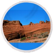 Arches National Park, Utah Usa - Delicate Arch Round Beach Towel
