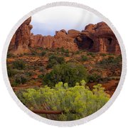 Arches Park 1 Round Beach Towel