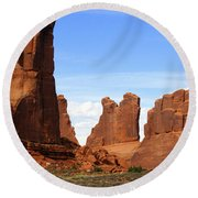 Arches Park 2 Round Beach Towel