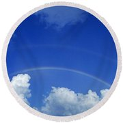 Arching Rainbow Round Beach Towel