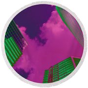 Architectural Abstract Round Beach Towel