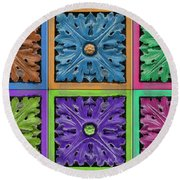 Architectural Beauty Round Beach Towel