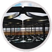 Architectural Detail Abstract Round Beach Towel
