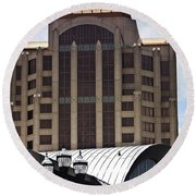 Architectural Differences Roanoke Virginia Round Beach Towel