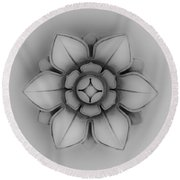 Architectural Element 2 Round Beach Towel