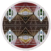 Architectural Nightmare II Round Beach Towel