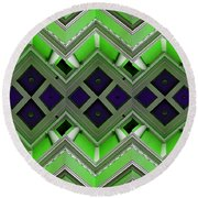 Architectural Nightmare IIi Round Beach Towel