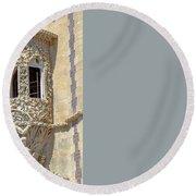 Architecture Background Sintra Round Beach Towel