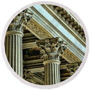 Architecture Columns Palace King Louis Xiv Versailles  Round Beach Towel