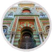 Architecture Of Odessa 3 Round Beach Towel