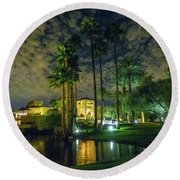 Architecture Of Residential Scottsdale Round Beach Towel