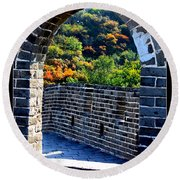 Archway To Great Wall Round Beach Towel