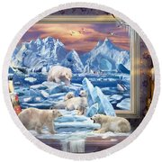 Arctic Bears Coming Round Beach Towel