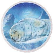 Arctic Seal Round Beach Towel