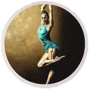 Ardent Dancer Round Beach Towel