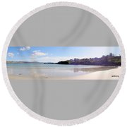 Downings Donegal Ireland  Round Beach Towel