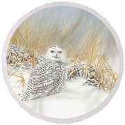 Are You Coming Or What? Round Beach Towel