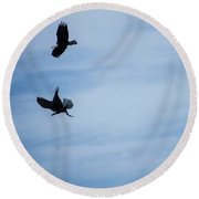 Are You Sharing? Round Beach Towel