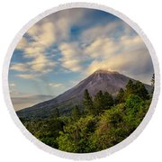 Arenal At The Sun's Last Touch Round Beach Towel
