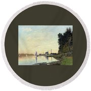 Argenteuil, Late Afternoon Round Beach Towel