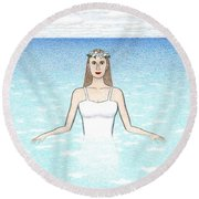 Ariadne Round Beach Towel