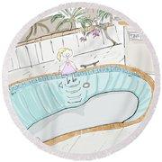 Arial Skates Pools Round Beach Towel