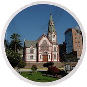 Arica Chile Church Round Beach Towel