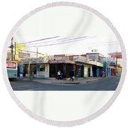 Arica Chile Street Corner Round Beach Towel