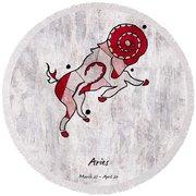 Aries Artwork Round Beach Towel