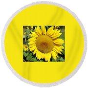 Arikara Sunflower Round Beach Towel