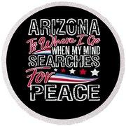 Arizona American Patriotic Memorial Day Round Beach Towel