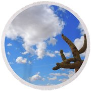 Arizona Blue Sky Round Beach Towel