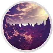 Arizona Canyon Sunshine Round Beach Towel