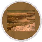 Arizona Cloudscape II Round Beach Towel