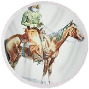 Arizona Cowboy, 1901 Round Beach Towel