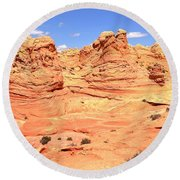 Arizona Desert Pastels Round Beach Towel