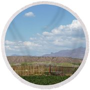 Arizona Farming Round Beach Towel