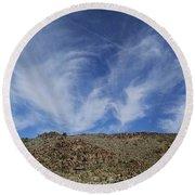 Arizona Foothill Sky Round Beach Towel